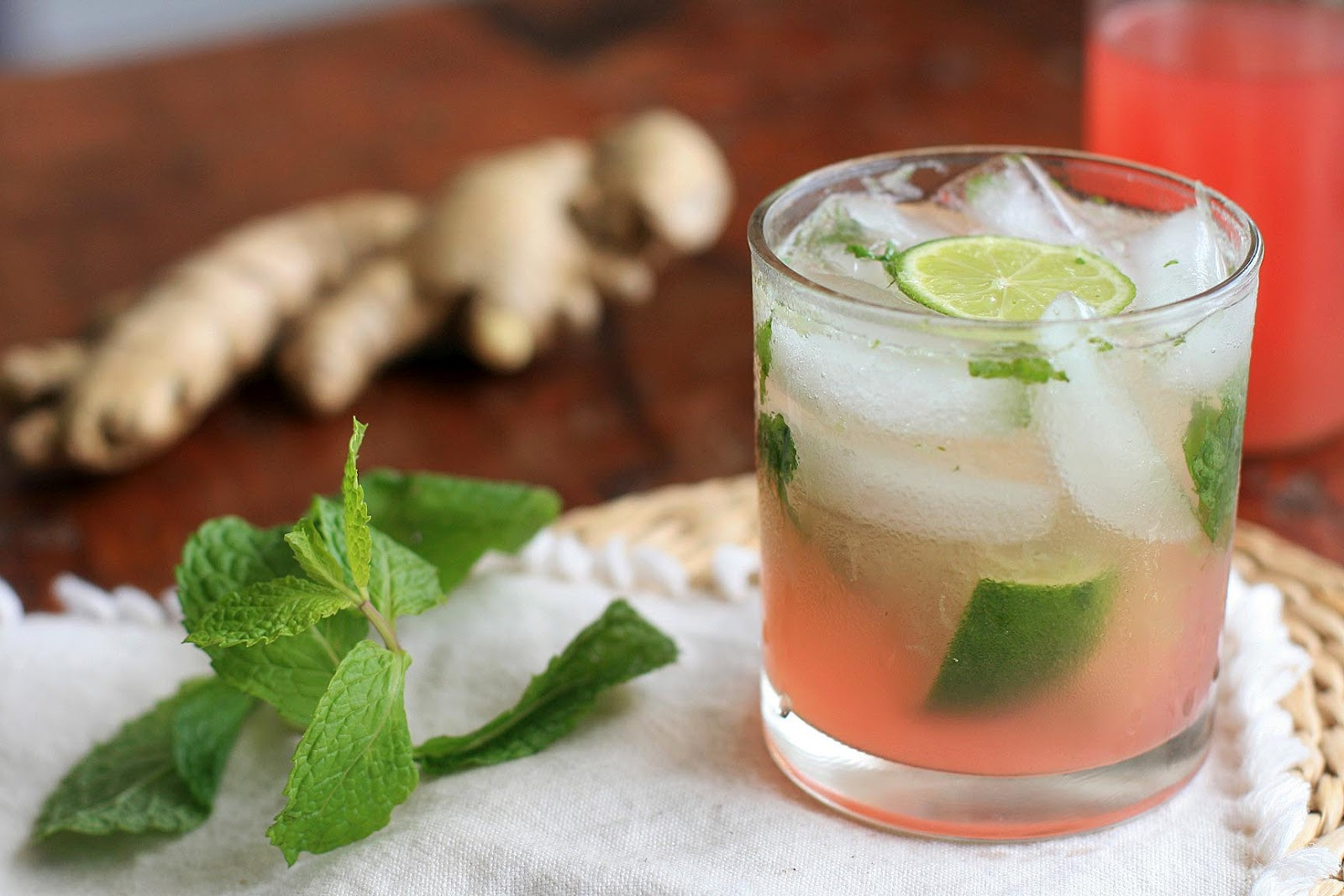 Rhubarb and Ginger Mojito | Girl Cooks World