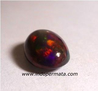 Jenis Batu Permata : Batu Permata Black Opal Kalimaya Bante n