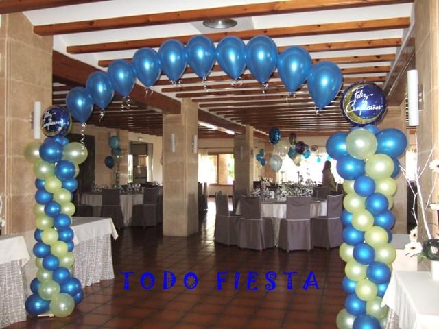 Decoraci n con globos de todo fiesta decoraciones para for Decoracion salon 50 anos hombre