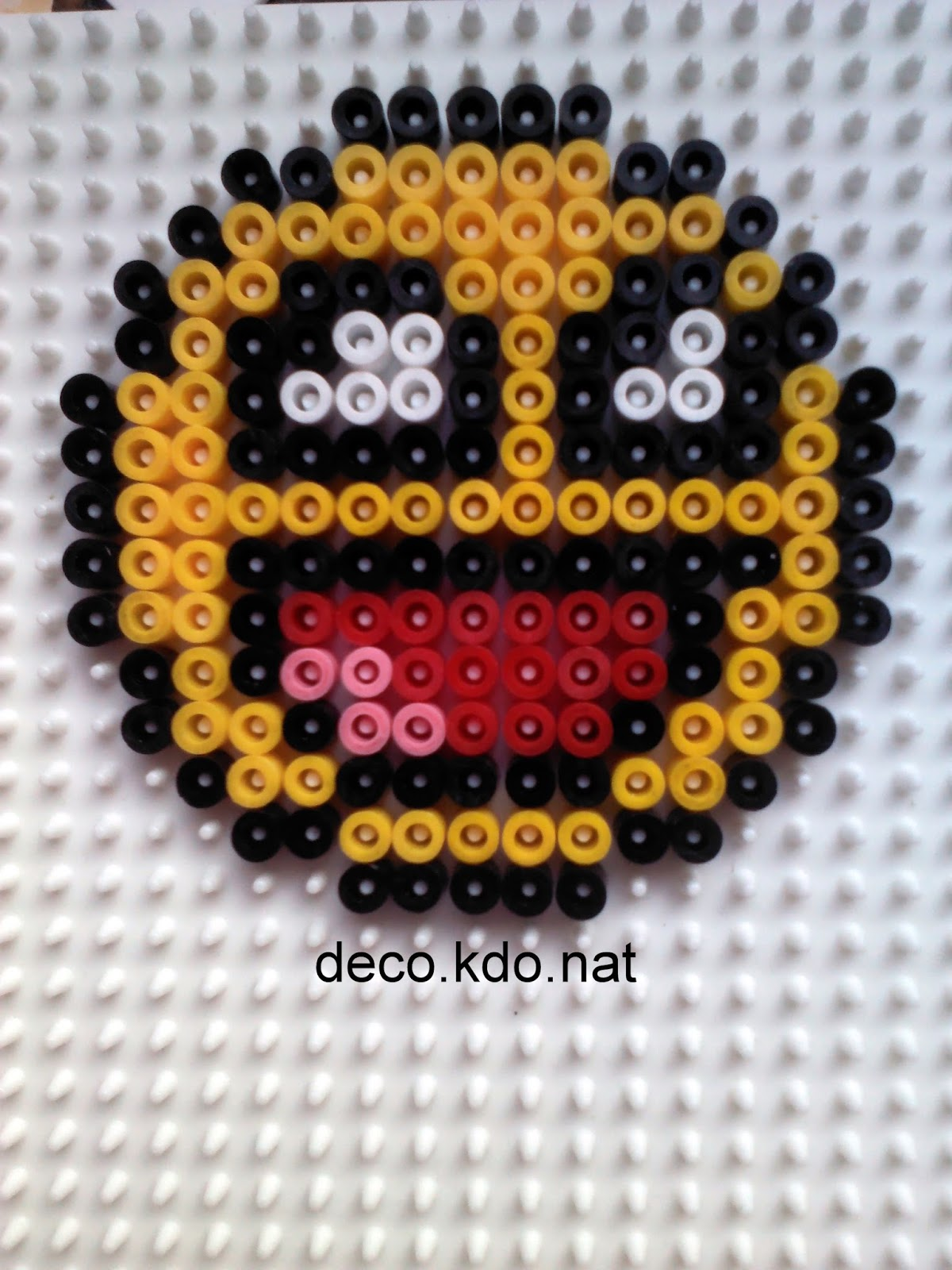deco kdo nat perles hama smileys. Black Bedroom Furniture Sets. Home Design Ideas