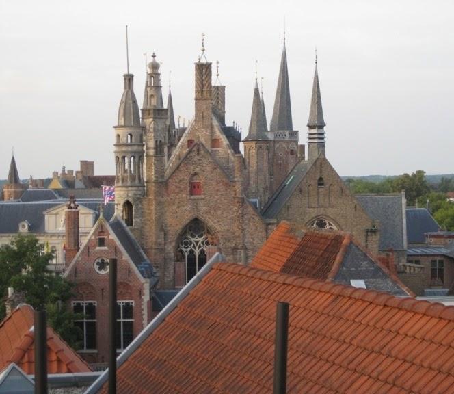 Belvedere rooftop View St Martins Bruges