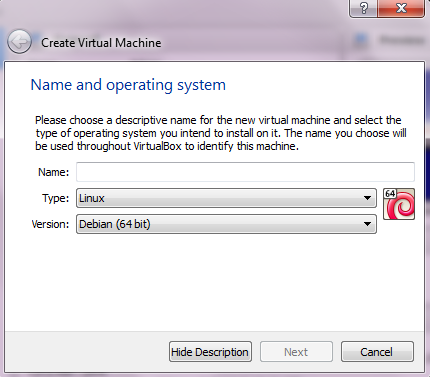 Installing Debian on Oracle VM Virtual Box [Windows 7 Host]