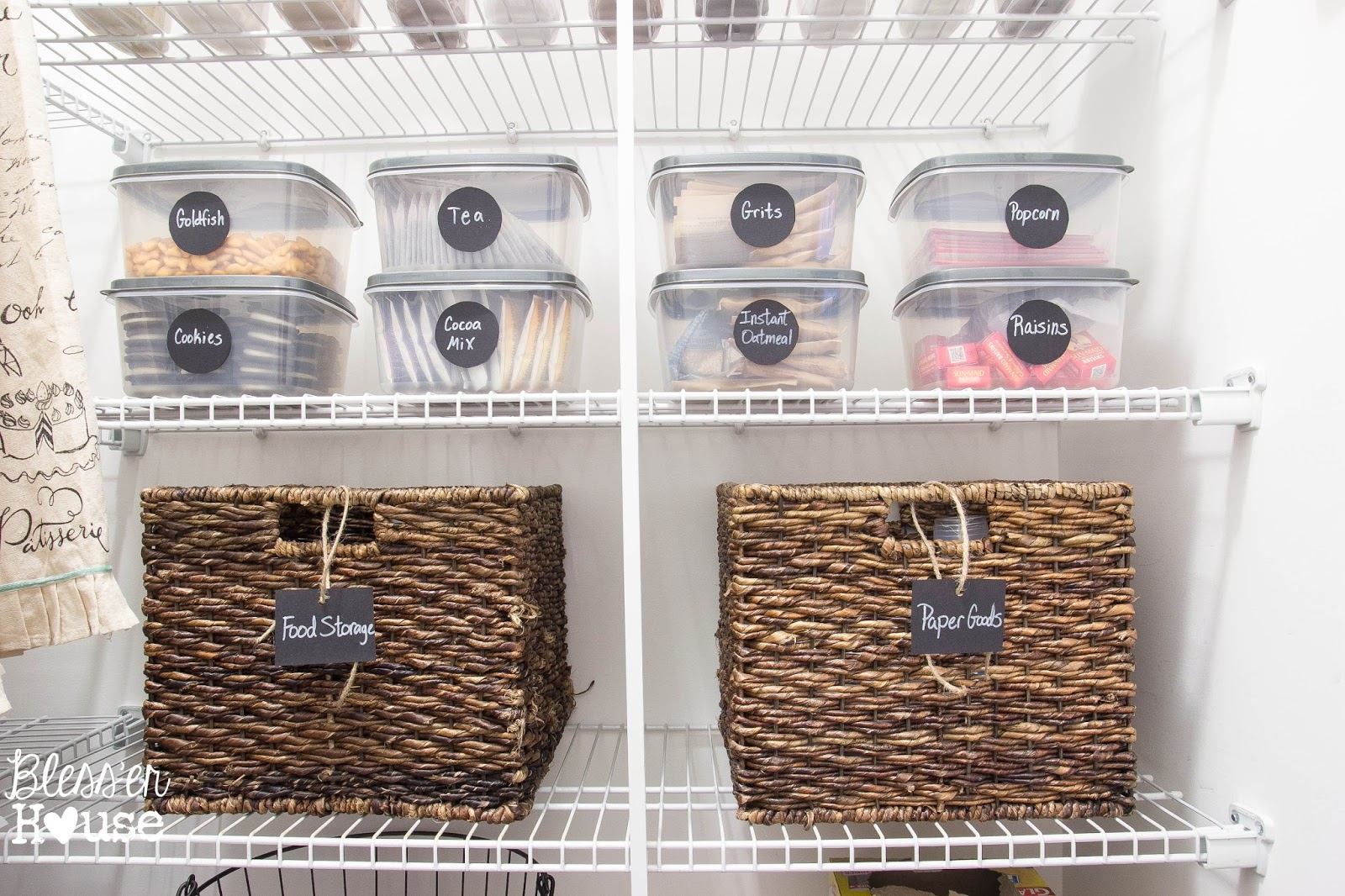 Blessu0027er House | The Cheapest Way To Organize A Pantry + Free Printable