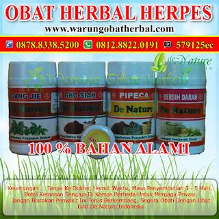 Obat Herbal Herpes Paket Komplit - De Nature Indonesia