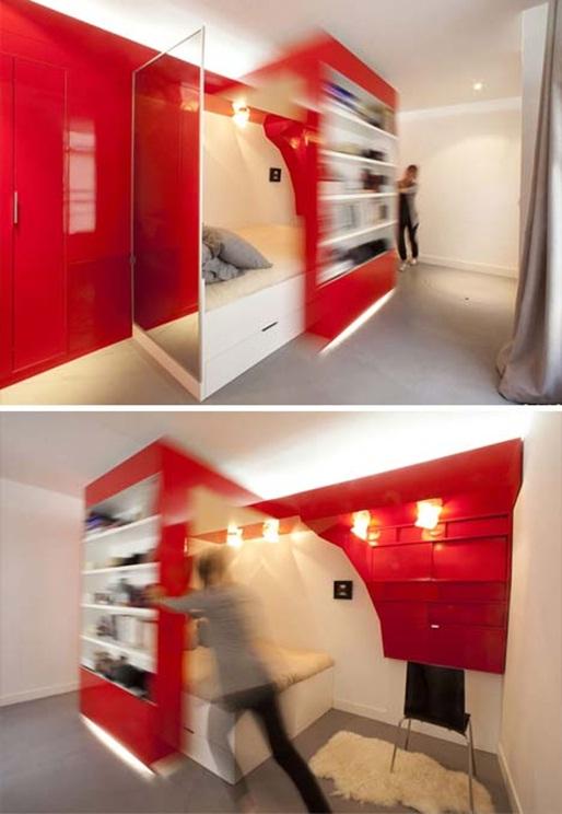 Decora y disena adaptando separador de ambiente moderno - Dormitorio juvenil pequeno ...