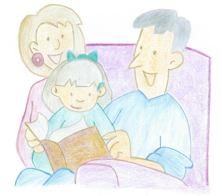 Familias leyendo libros - Imagui