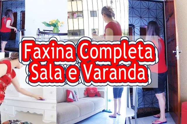 Blog Roxachic.com | FAXINA COMPLETA | Na Sala de Estar e Jantar, Porta, Grades, Piso e Varanda