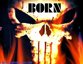 Punisher born skull explosion and fire