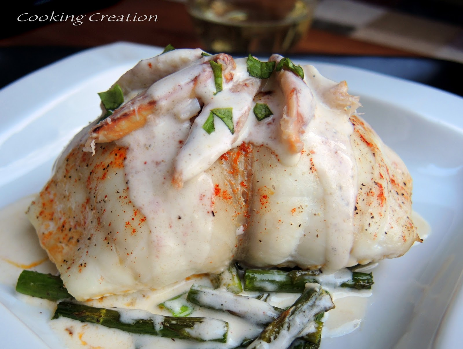 Cooking Creation: Baked Crab-Stuffed Flounder with Champagne Cream ...