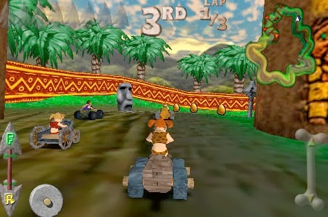 Wild kart-racer Cro-Mag Rally Android Game Download.