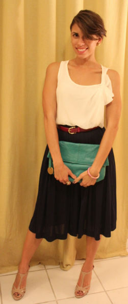 Looks I Luv: Pleated Skirt With Pops of Color