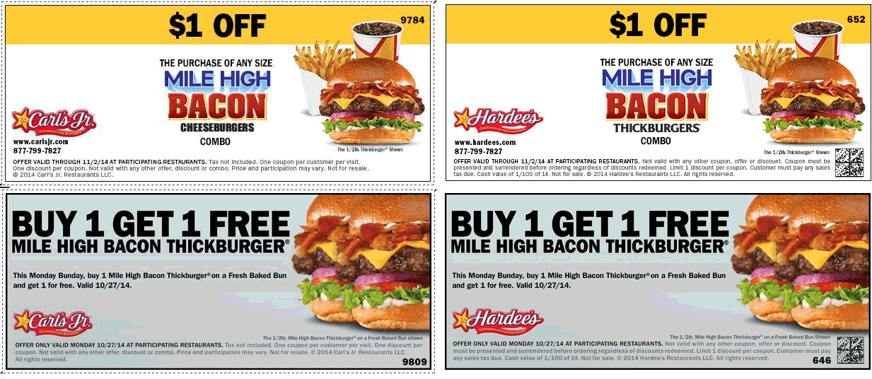 Today's top Hardees coupon: Check Out Their $5 All Star Value Meals. Get 5 coupons for