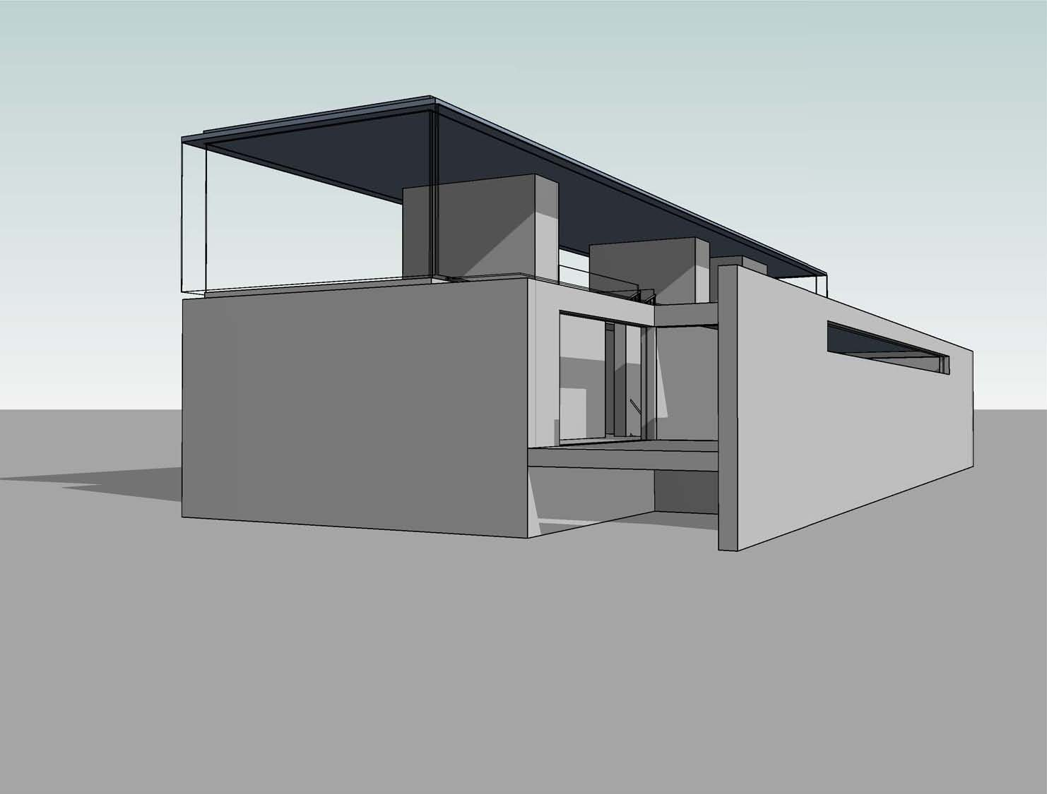 Revit detail 13 3 modern house design development p1 for Revit architecture modern house design