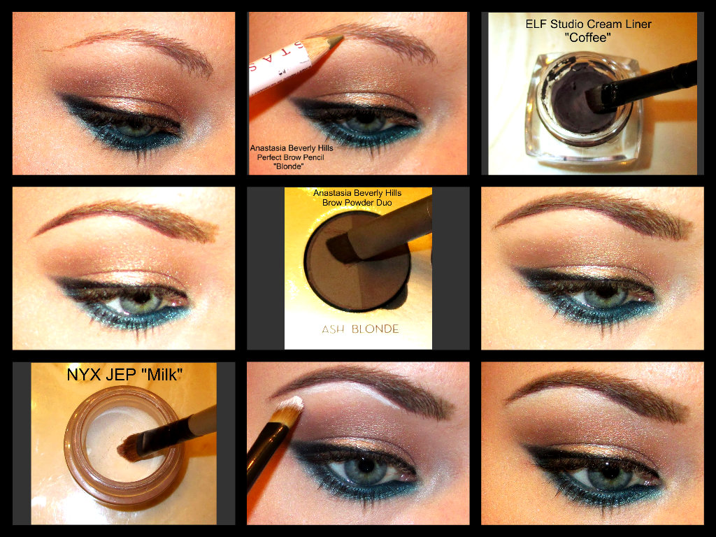 The beautiful life of the girl next door how i do my eyebrows a step by step picture tutorial