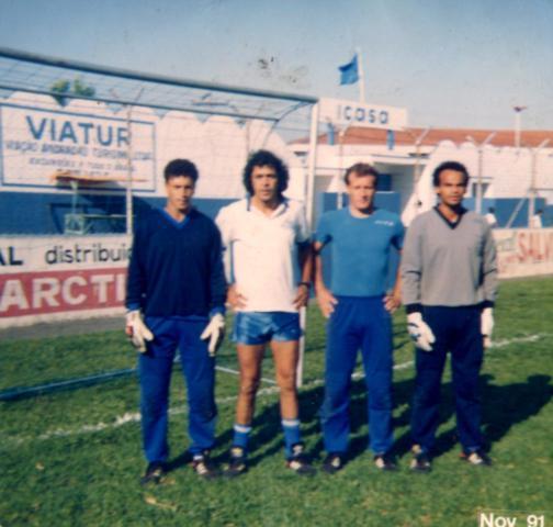 N Rio Branco de Andradas com os amigos e treinador Sergio Gomes