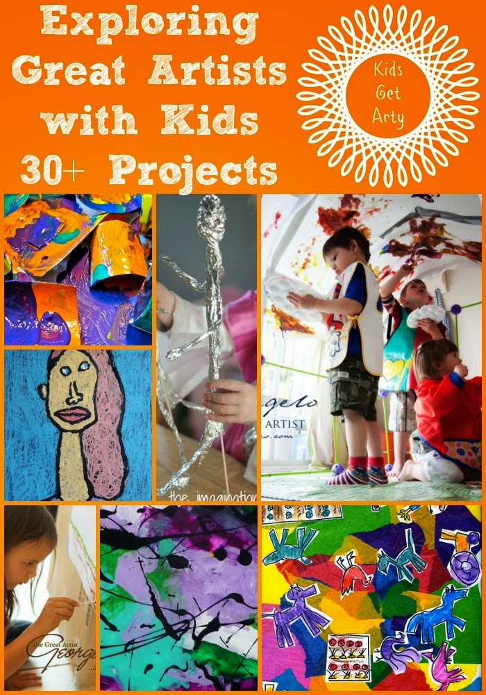 30+ Art Projects For Kids Exploring the Great Artists