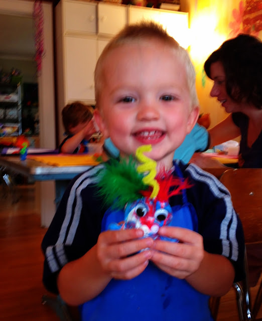 ArtHouse, KinderArt, toddler art, Moster art, clay, painting, handprint art
