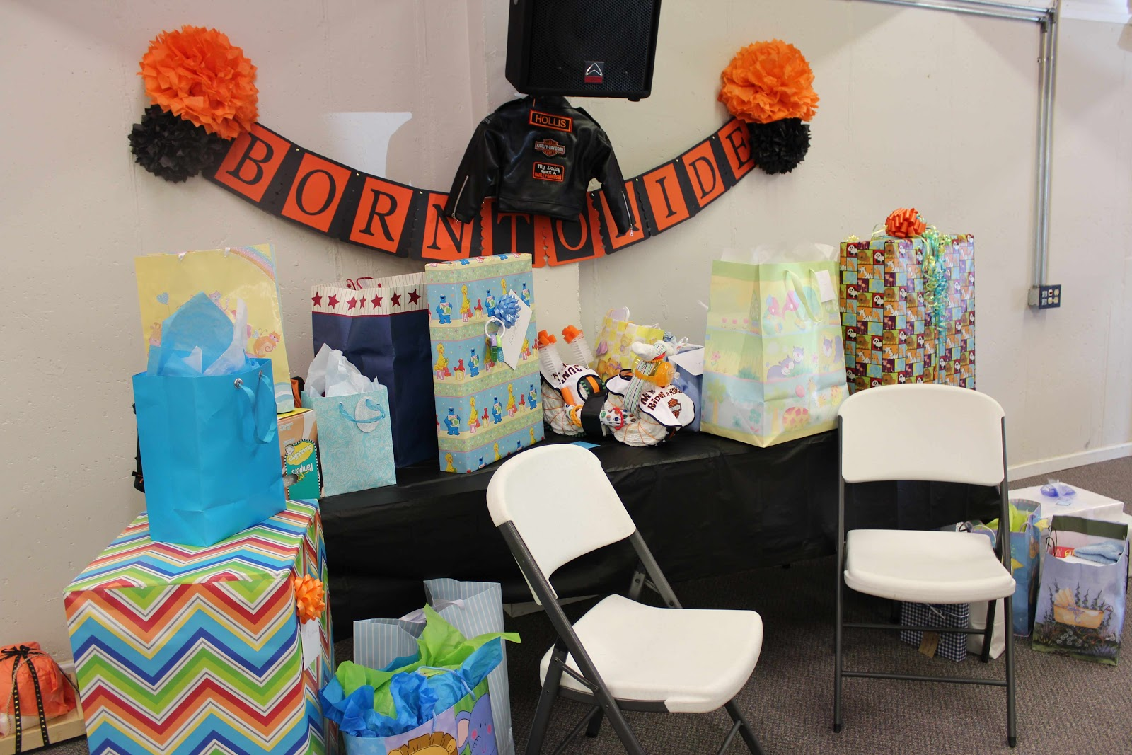 love to infinity and beyond harley davidson baby shower