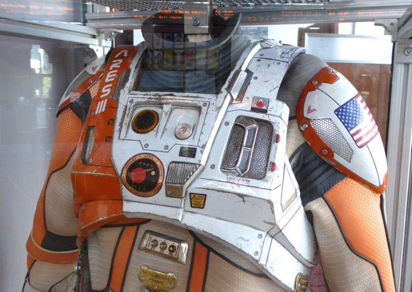 The Martian NASA astronaut spacesuit