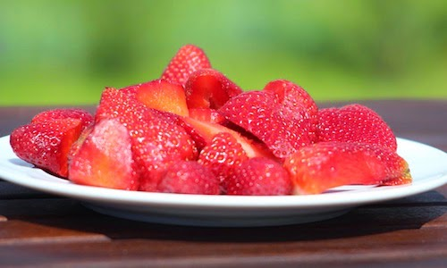 A food swap such as strawberries is a great healthy choice