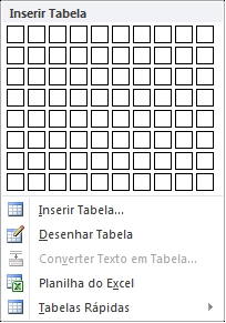 Inserir Tabela no Word 2010