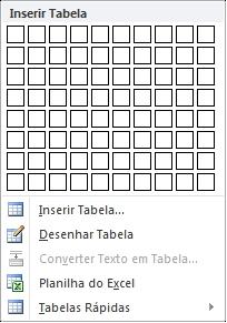 Inserir Tabela no Word 2010