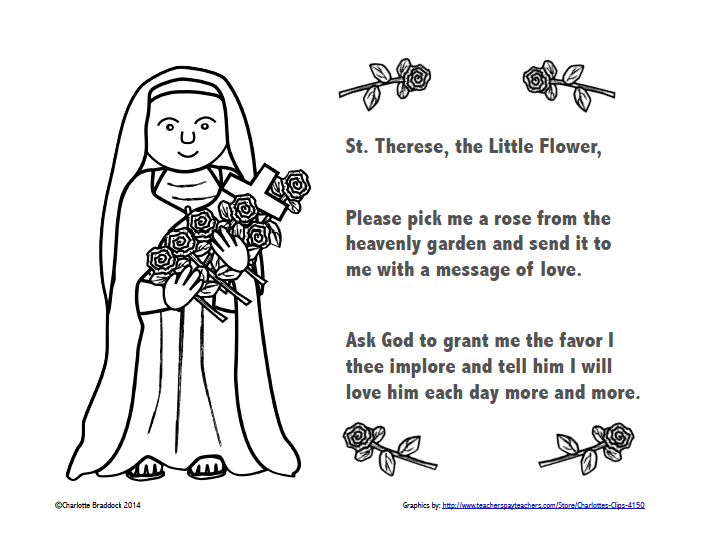 therese of lisieux coloring pages - photo#22