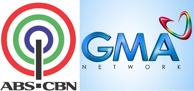 ABS-CBN vs GMA 7 logo