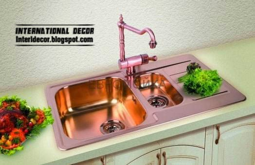 bronze kitchen sinks and faucet, unique sinks