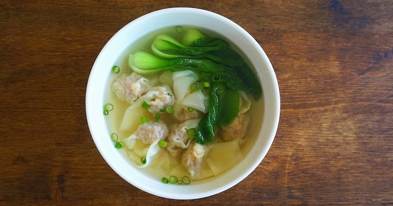 seasaltwithfood pork and shrimp wonton soup