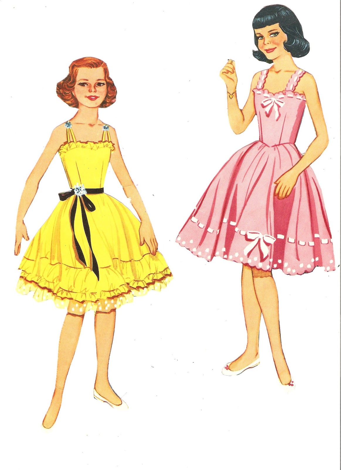 Miss Missy Paper Dolls: 4 girls paper dolls