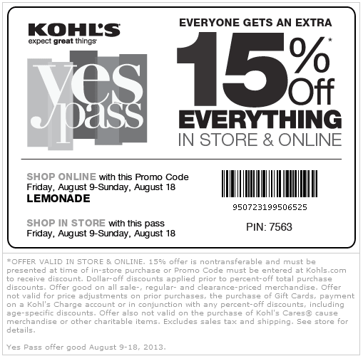 Kohls 30 percent coupon code 2018