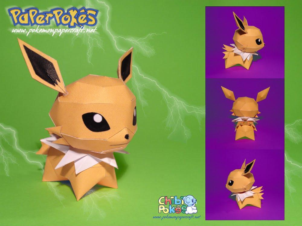 Paperpokés - Pokémon Papercraft: JOLTEON CHIBI
