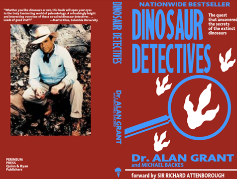 Portada de Dinosaur Detectives, de Alan Grant, en Jurassic Park - Cine de Escritor