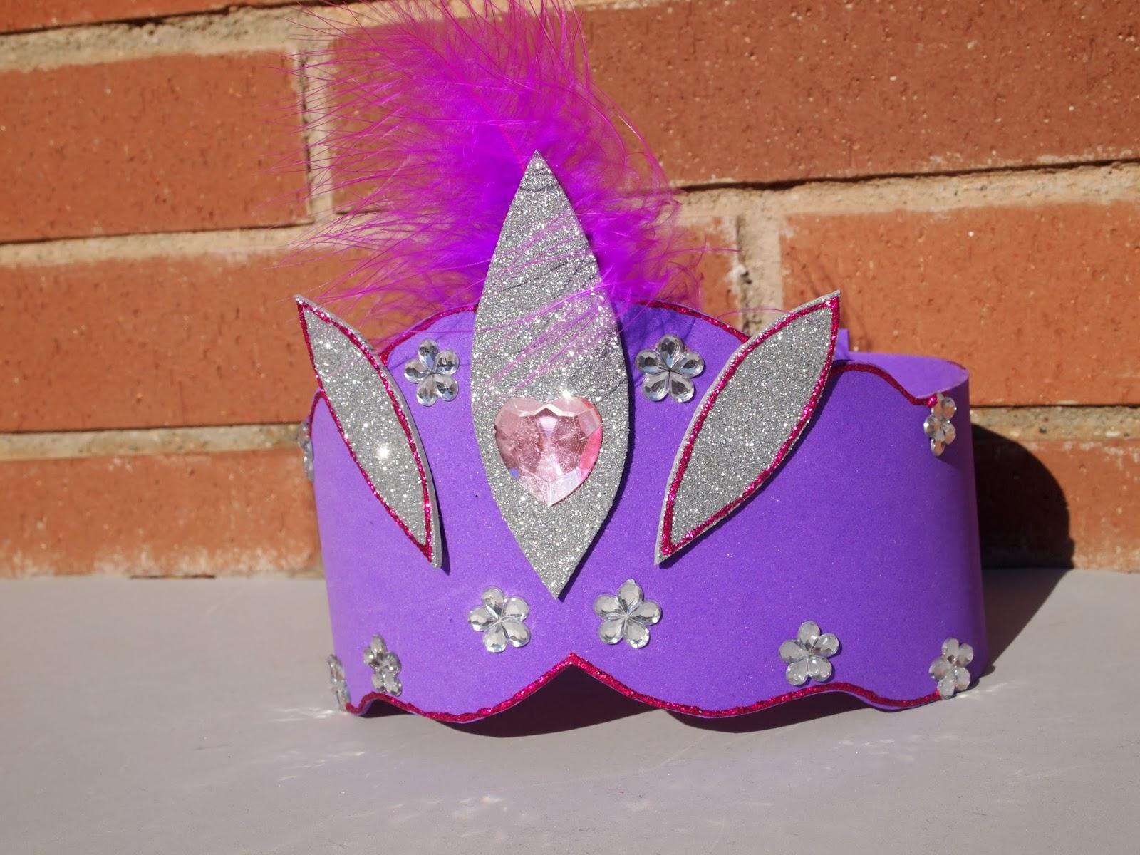 LAS PINTURAS DE ABRIL: Corona de princesa de goma eva