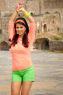 Sharmila Mandre cutest pics Gallery in Green Shorts and Tight Top