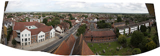 View of Rainham Kent from Church tower - looking towards Sittingbourne