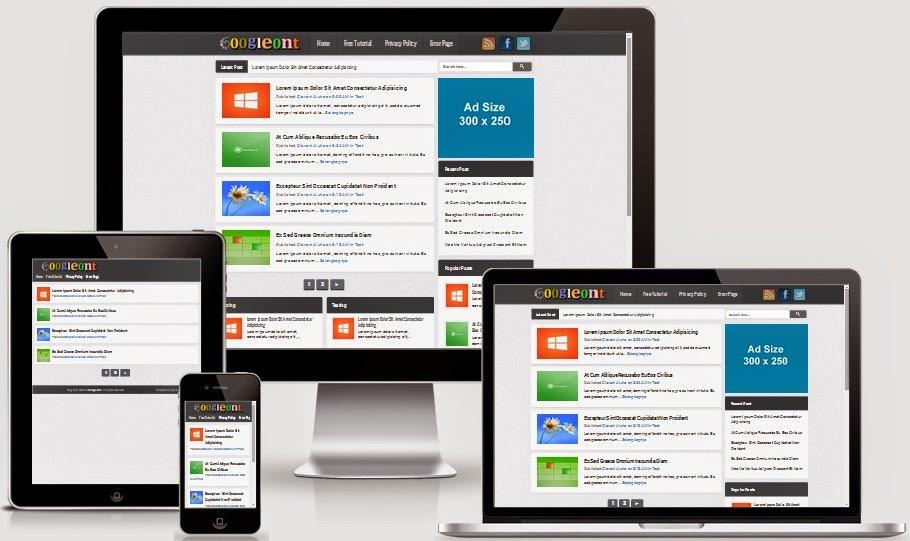 Googleont Seo Responsive Blogger Template