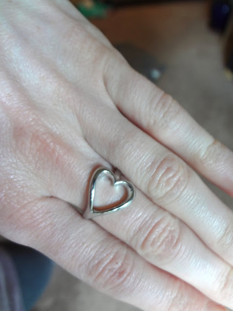 silver heart ring from forever21