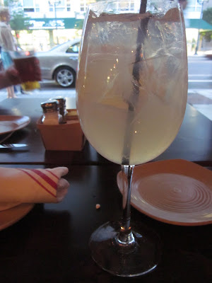 White sangria at Legal Harborside, Boston, Mass.