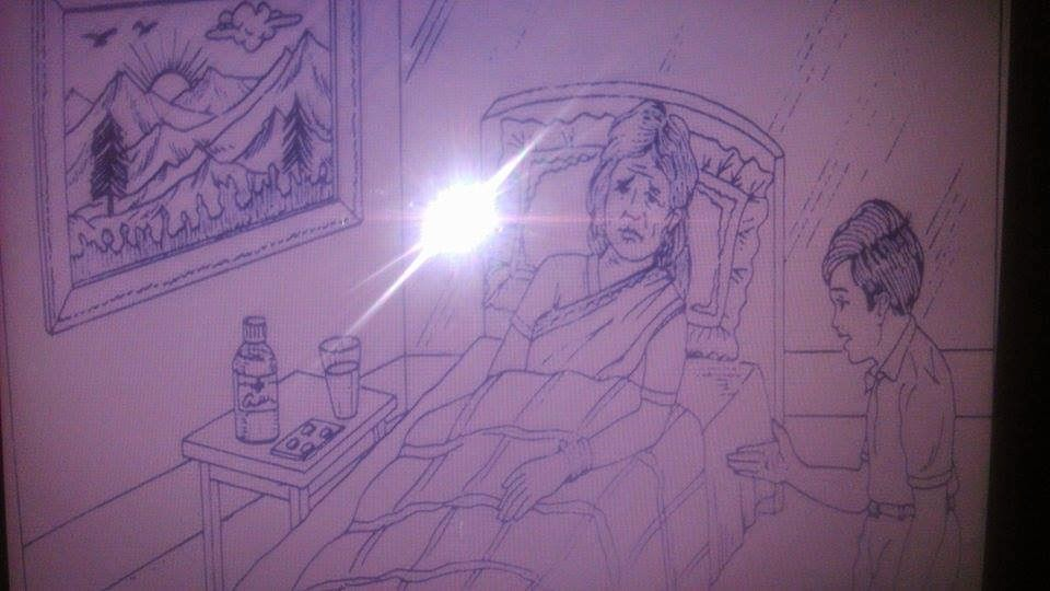 PPDT story on ill woman scene: Sample story