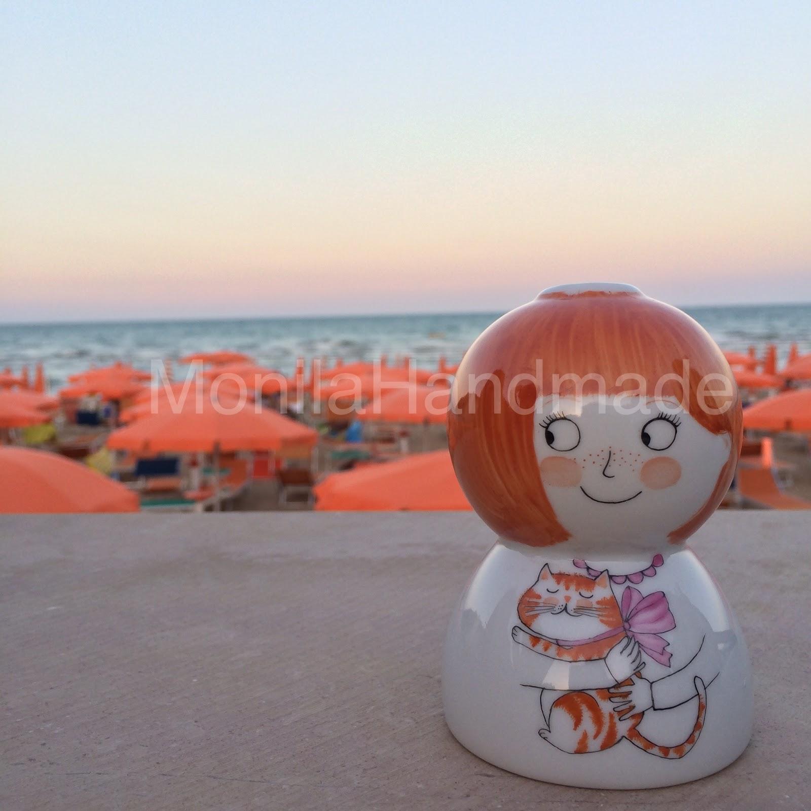 Monila Handmade,porcellana,dipinto a mano,vaso