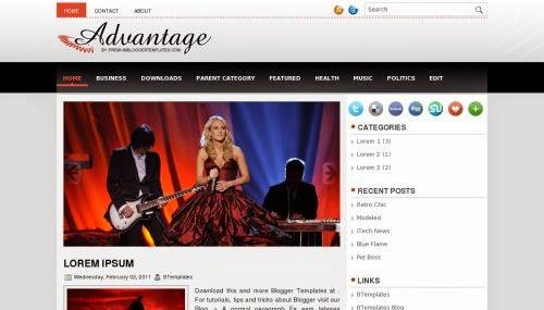 Advantage - Free Blogger Template