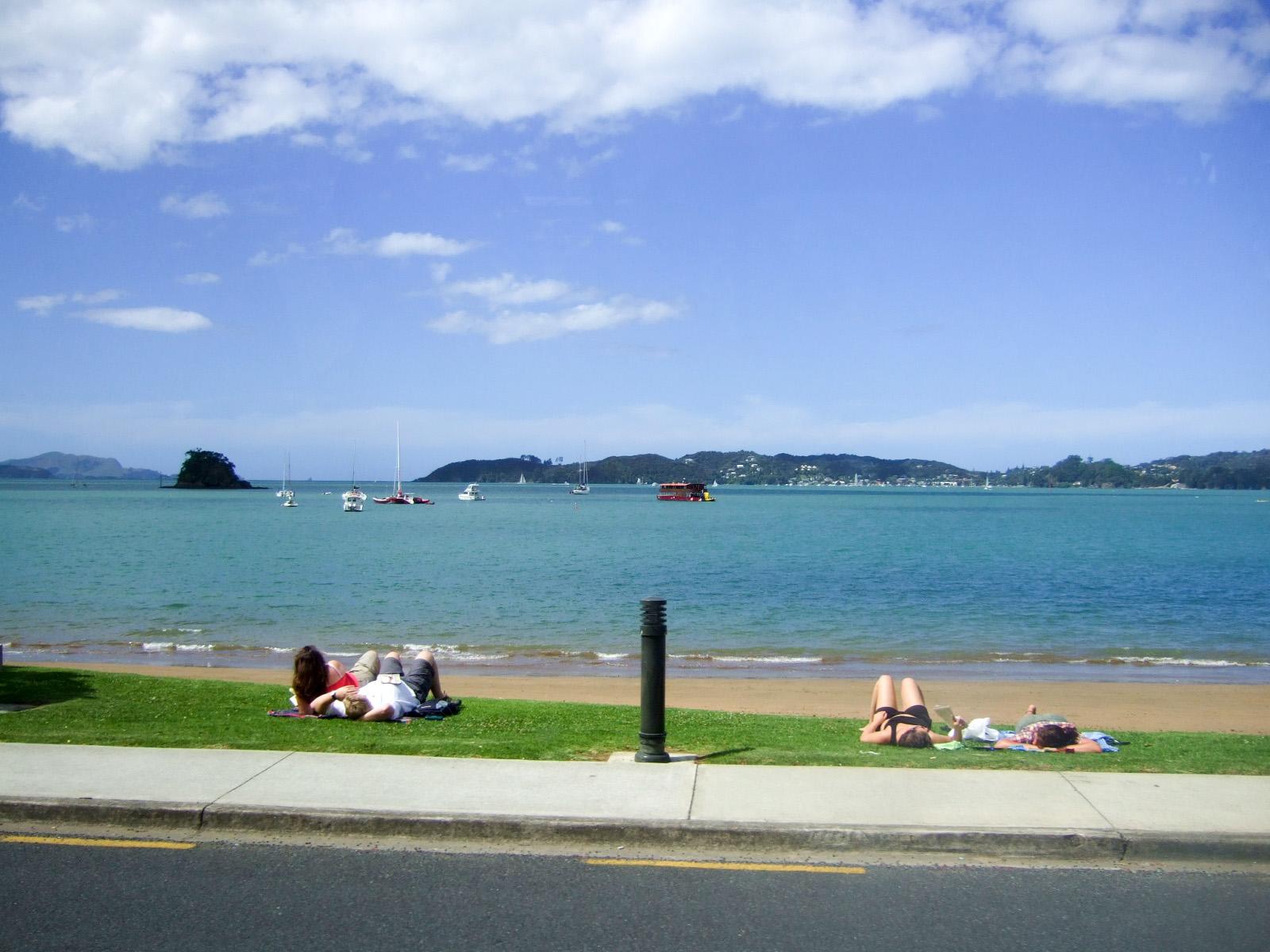 海水浴,パイヒア,ニュージーランド〈著作権フリー無料画像〉Free Stock Photos