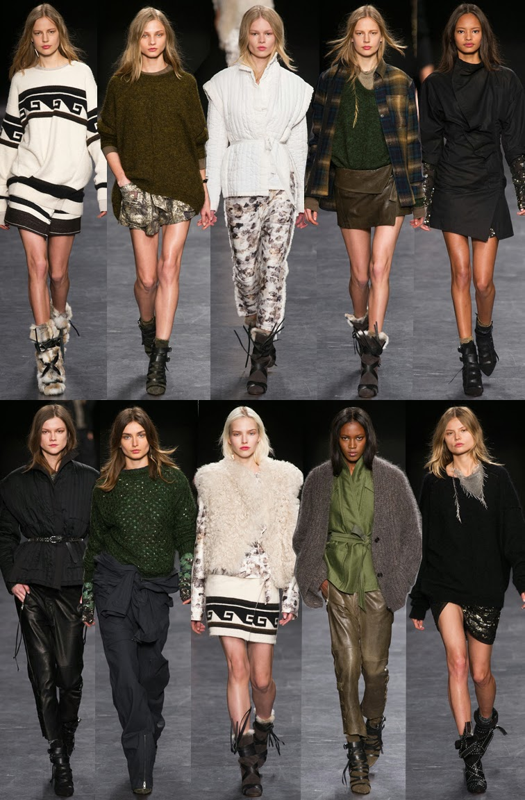 Isabel Marant fall winter 2014 runway collection, PFW, Paris fashion week, FW14, AW14