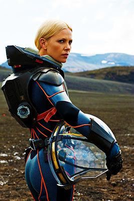 Charlize Theron, Prometheus, spacesuit, Meredith Vickers, Ridley Scott