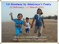 """1st GiveAway by AnnaLeeya's Family"""