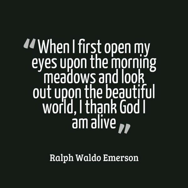 good morning quotes emerson