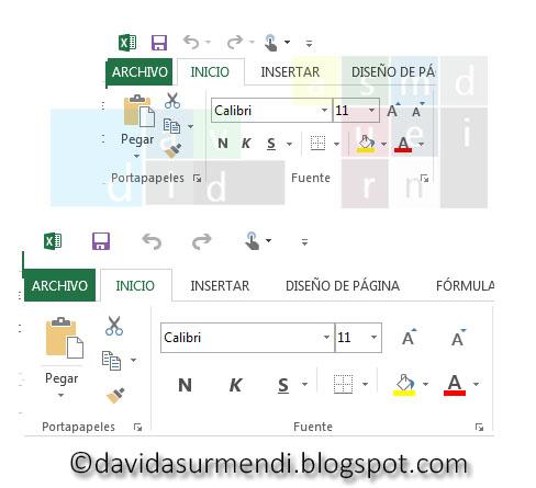 Comparación Modo toque/mouse.
