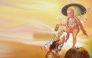 Vamana, Vishnu's dwarf incarnation.